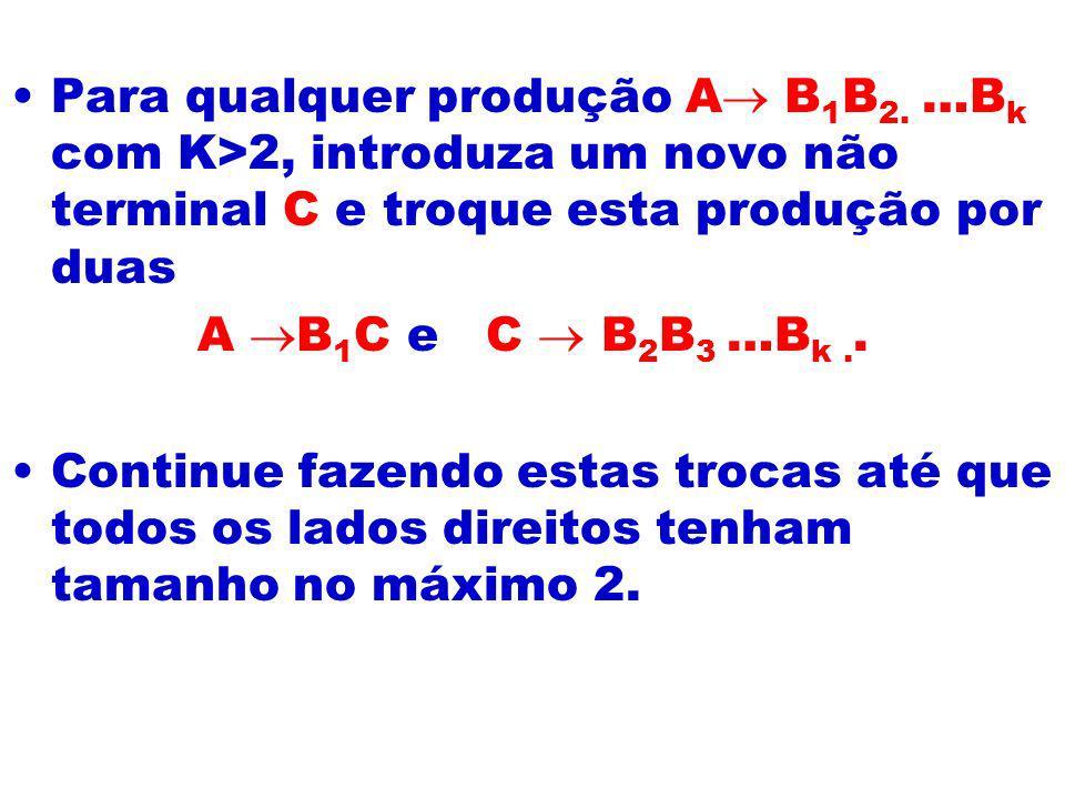 Para qualquer produção A B1B2