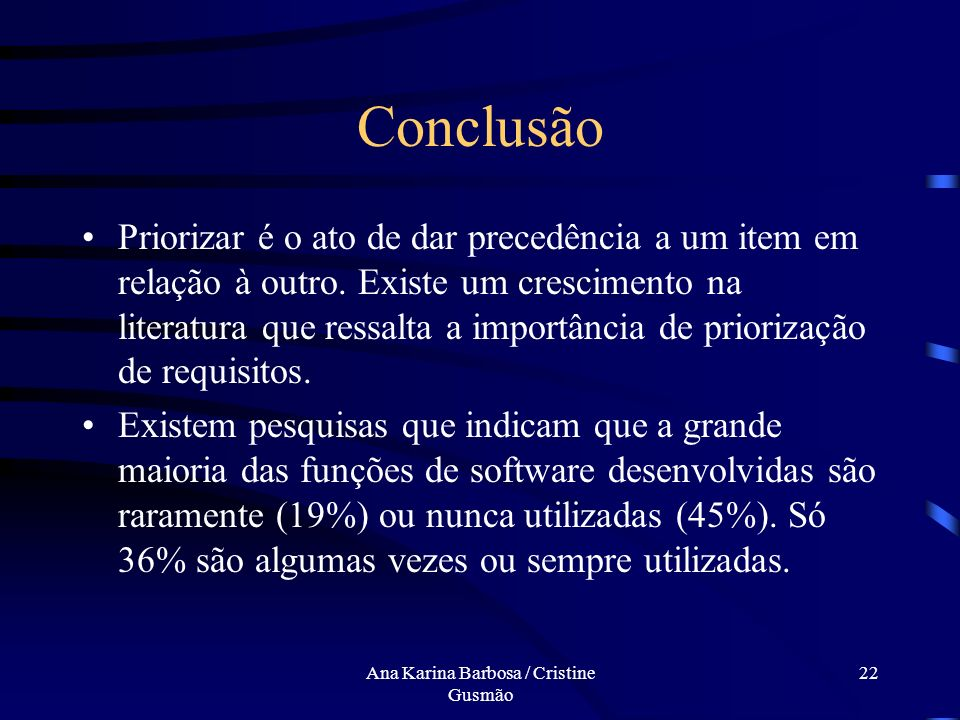 Ana Karina Barbosa / Cristine Gusmão