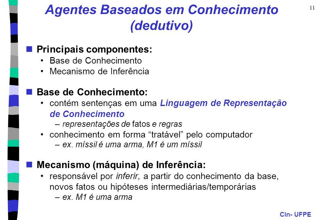 Agentes Baseados em Conhecimento (dedutivo)