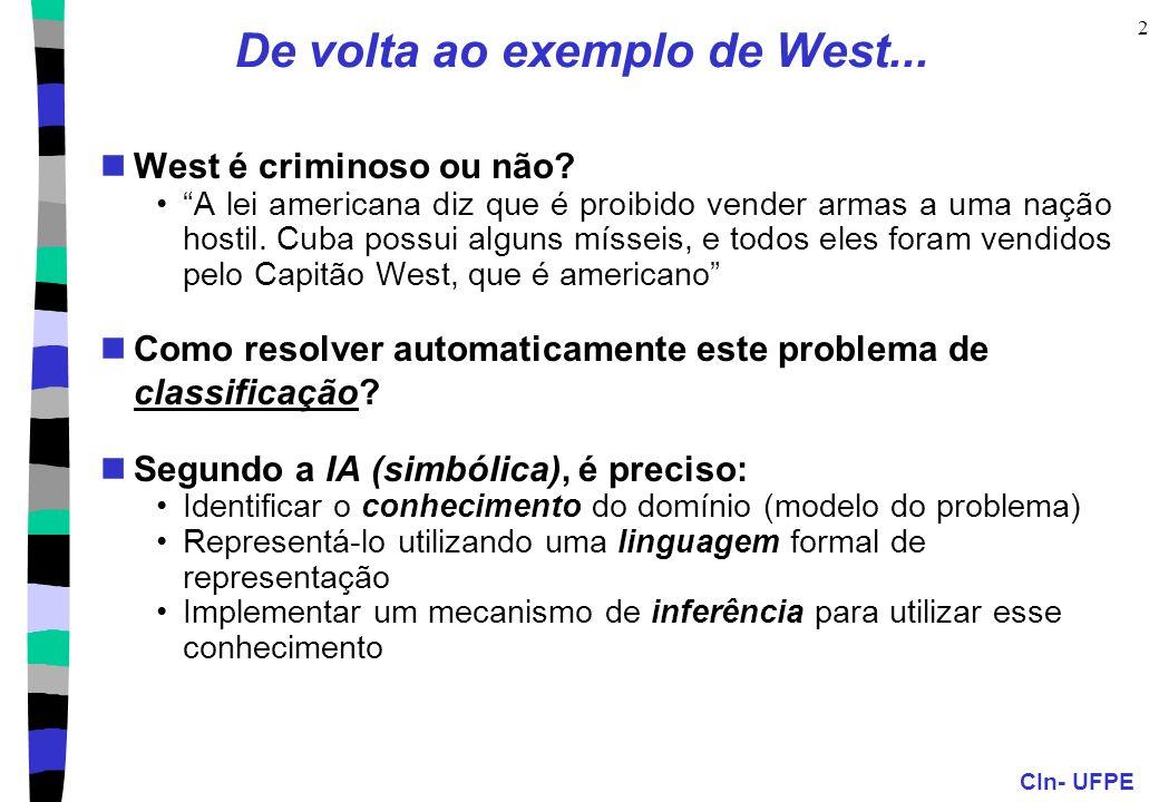 De volta ao exemplo de West...