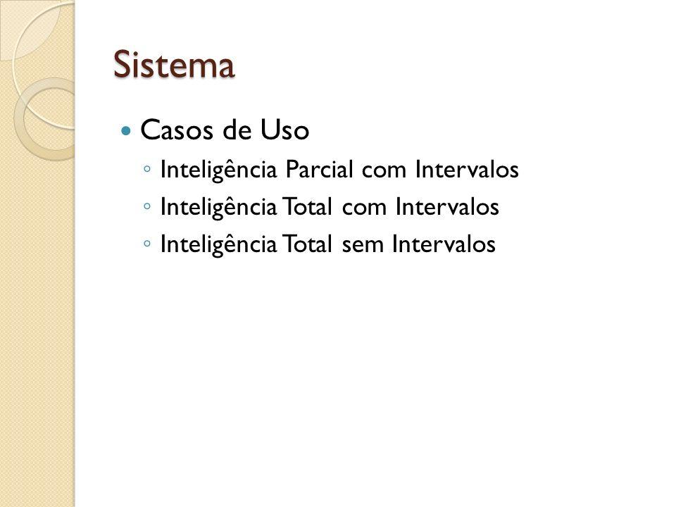 Sistema Casos de Uso Inteligência Parcial com Intervalos