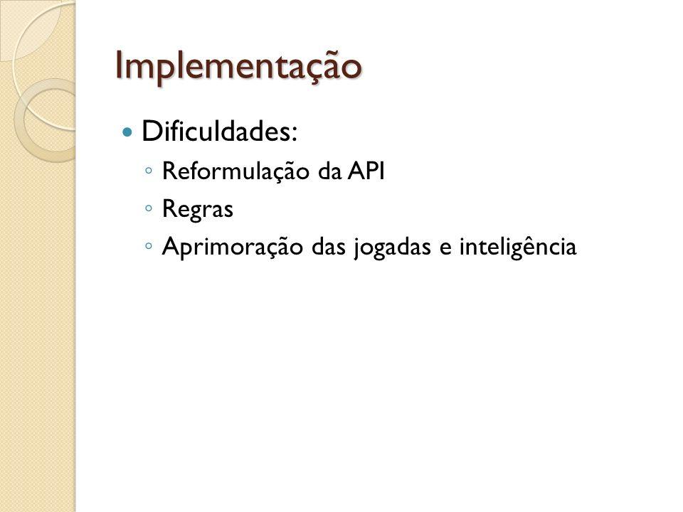 Implementação Dificuldades: Reformulação da API Regras