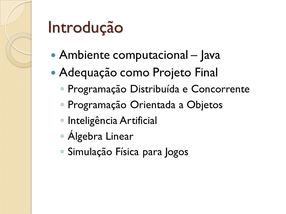 Introdução Ambiente computacional – Java Adequação como Projeto Final