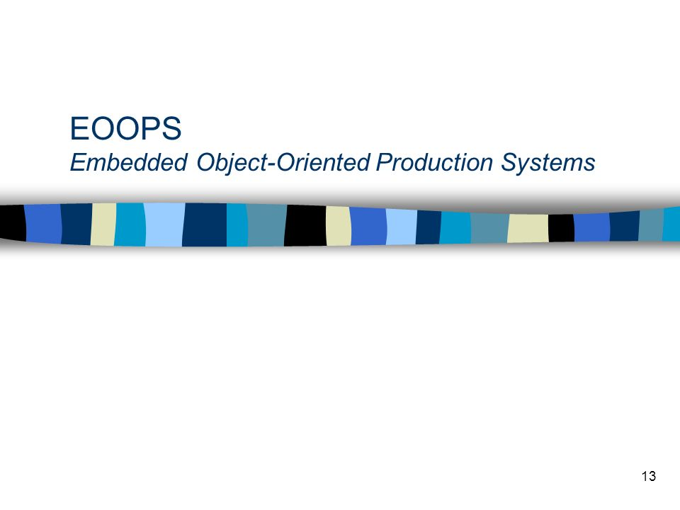 EOOPS Embedded Object-Oriented Production Systems
