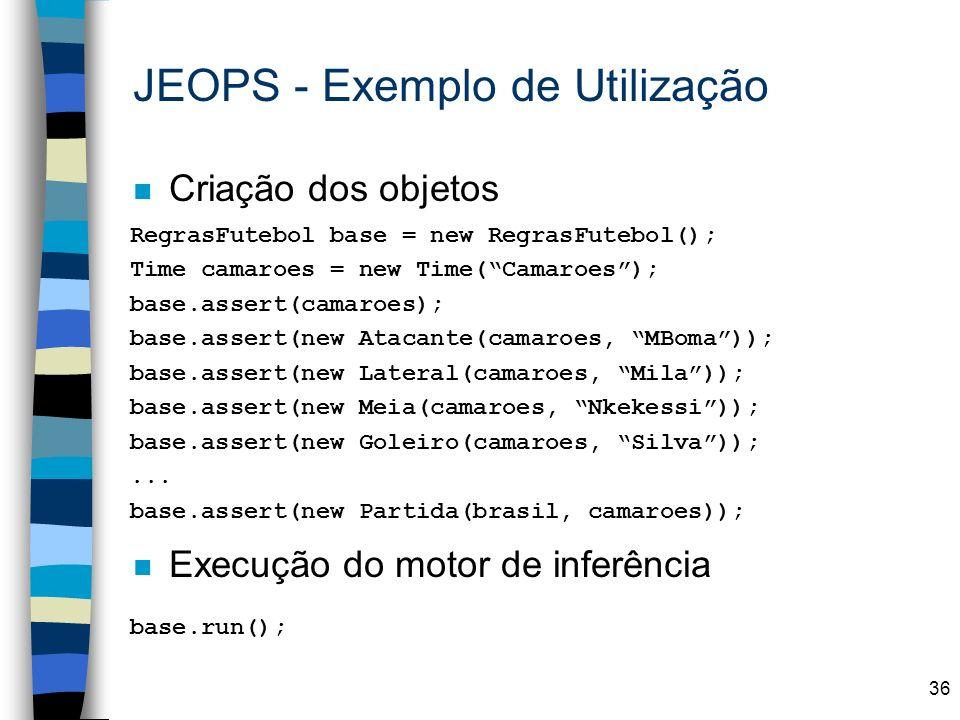 JEOPS - Exemplo de Utilização