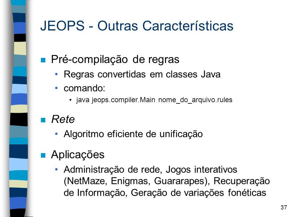 JEOPS - Outras Características