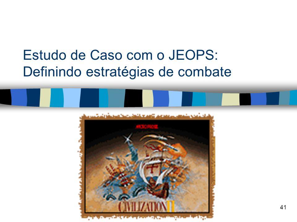 Estudo de Caso com o JEOPS: Definindo estratégias de combate
