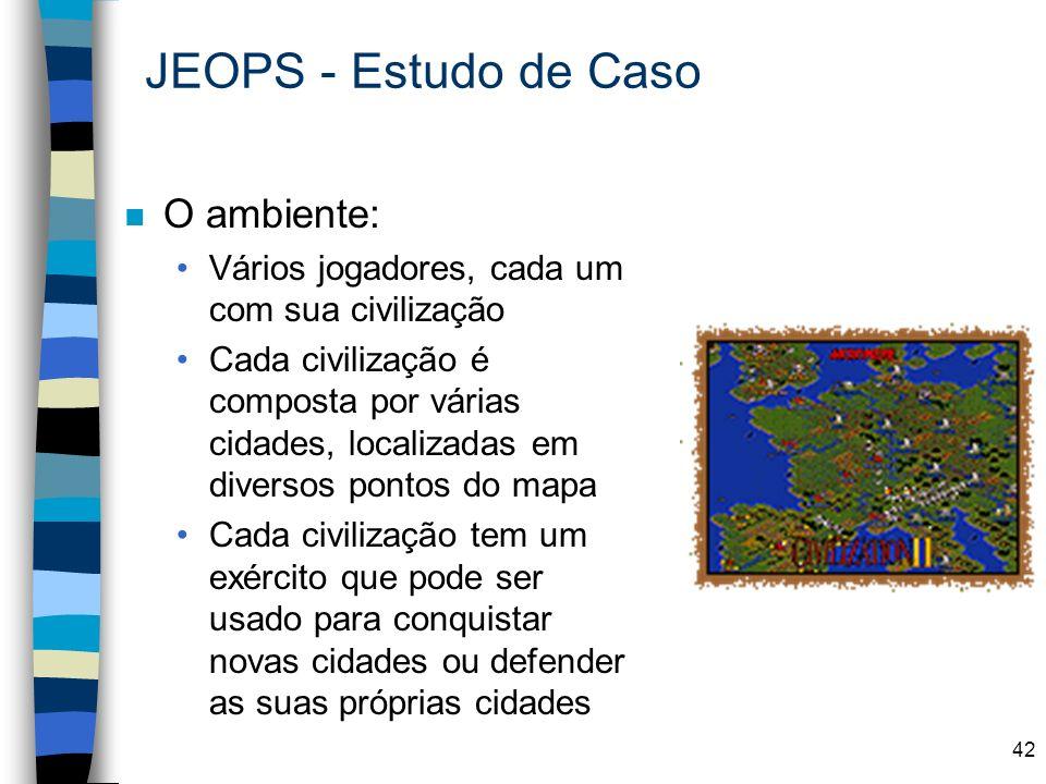 JEOPS - Estudo de Caso O ambiente: