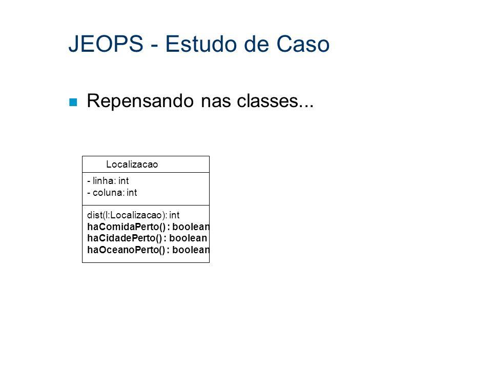 JEOPS - Estudo de Caso Repensando nas classes... Localizacao