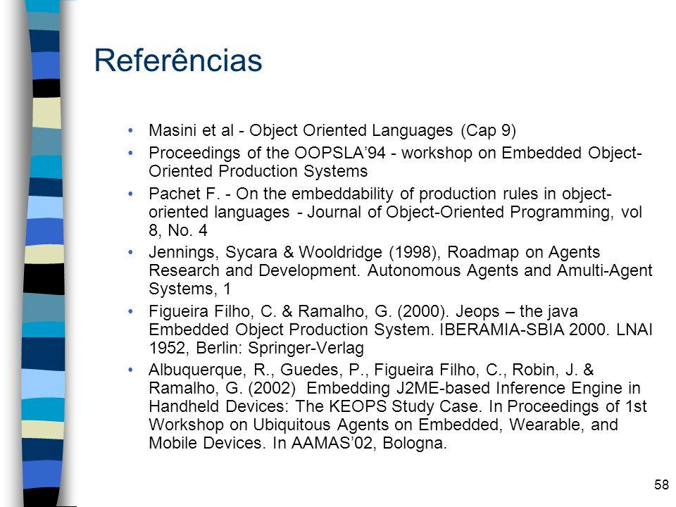 Referências Masini et al - Object Oriented Languages (Cap 9)