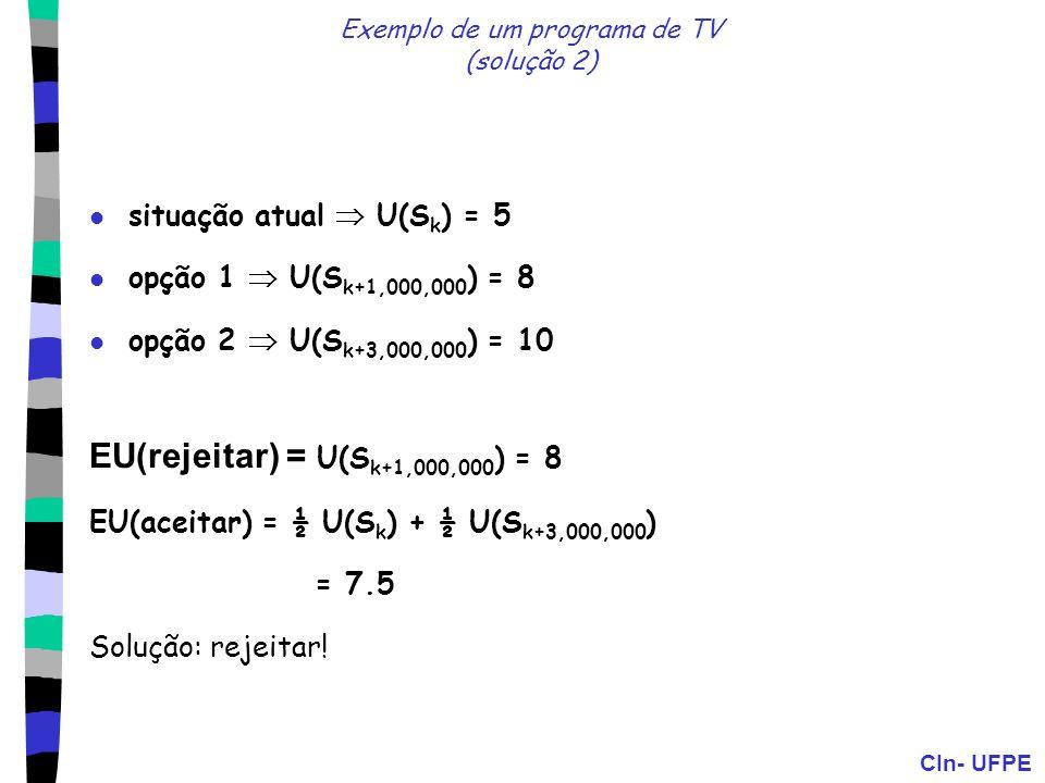Exemplo de um programa de TV (solução 2)