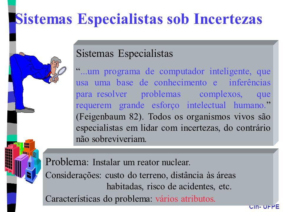 Sistemas Especialistas sob Incertezas