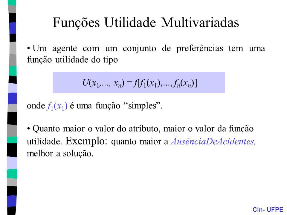 Funções Utilidade Multivariadas