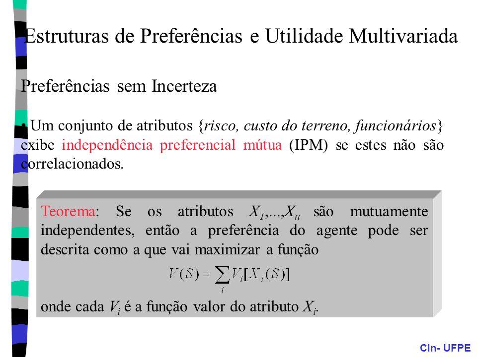 Estruturas de Preferências e Utilidade Multivariada