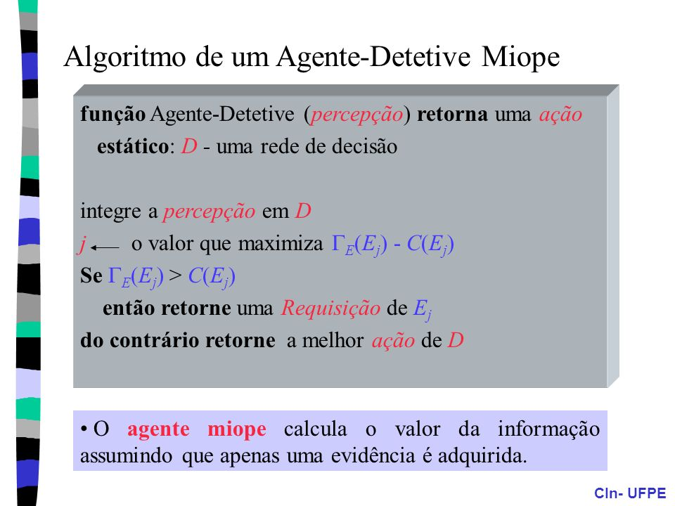 Algoritmo de um Agente-Detetive Miope