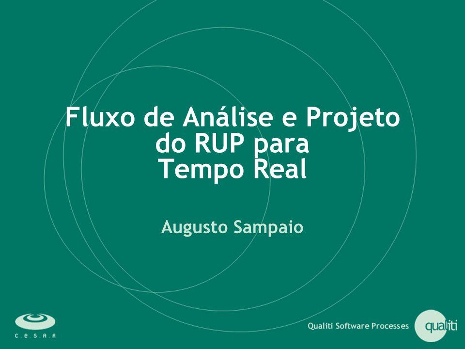 Fluxo de Análise e Projeto do RUP para Tempo Real
