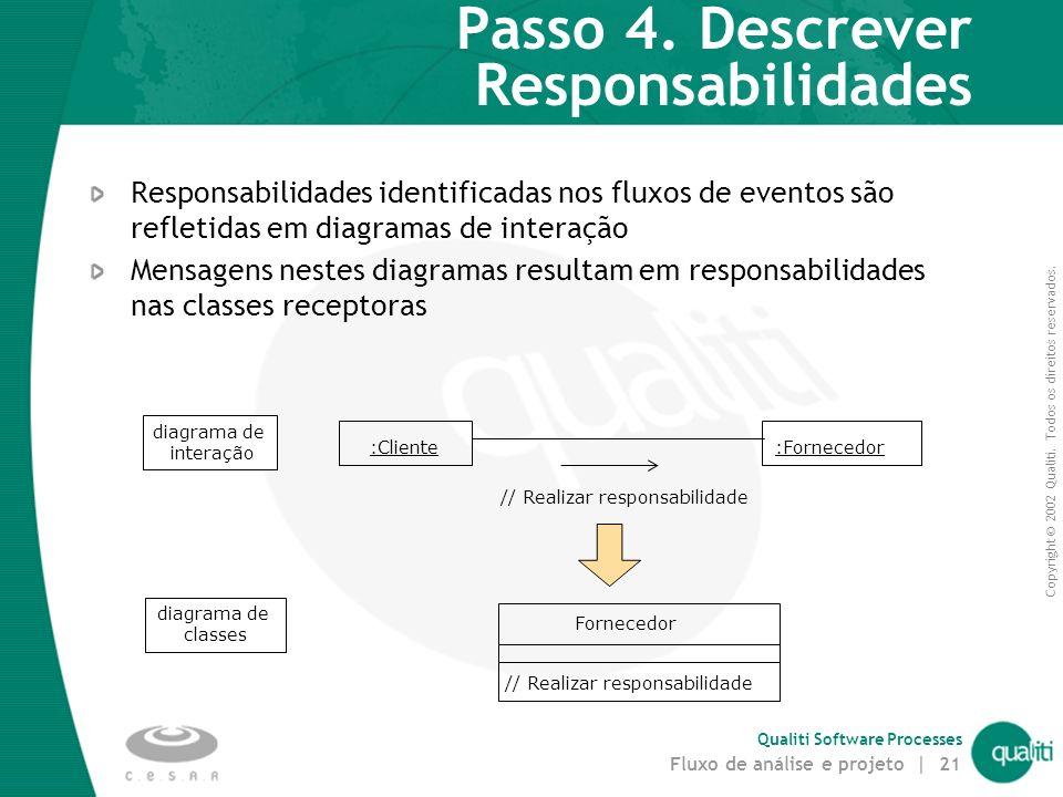 Passo 4. Descrever Responsabilidades