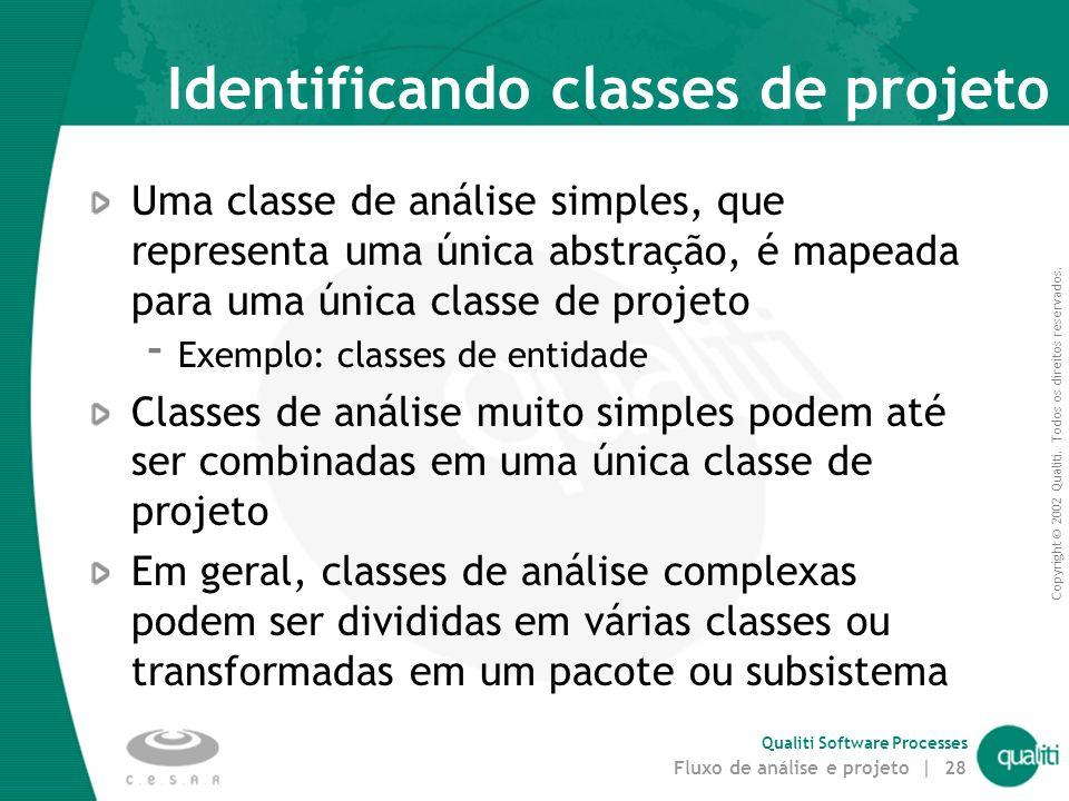 Identificando classes de projeto