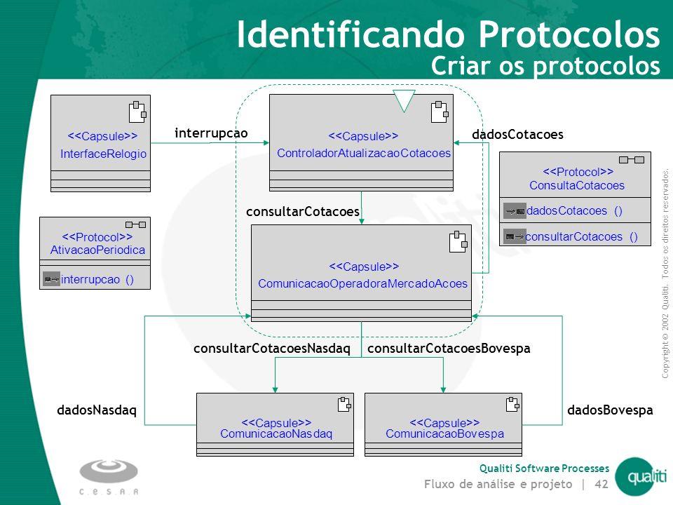 Identificando Protocolos Criar os protocolos