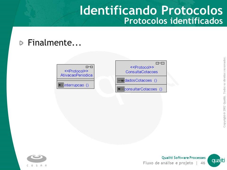 Identificando Protocolos Protocolos identificados