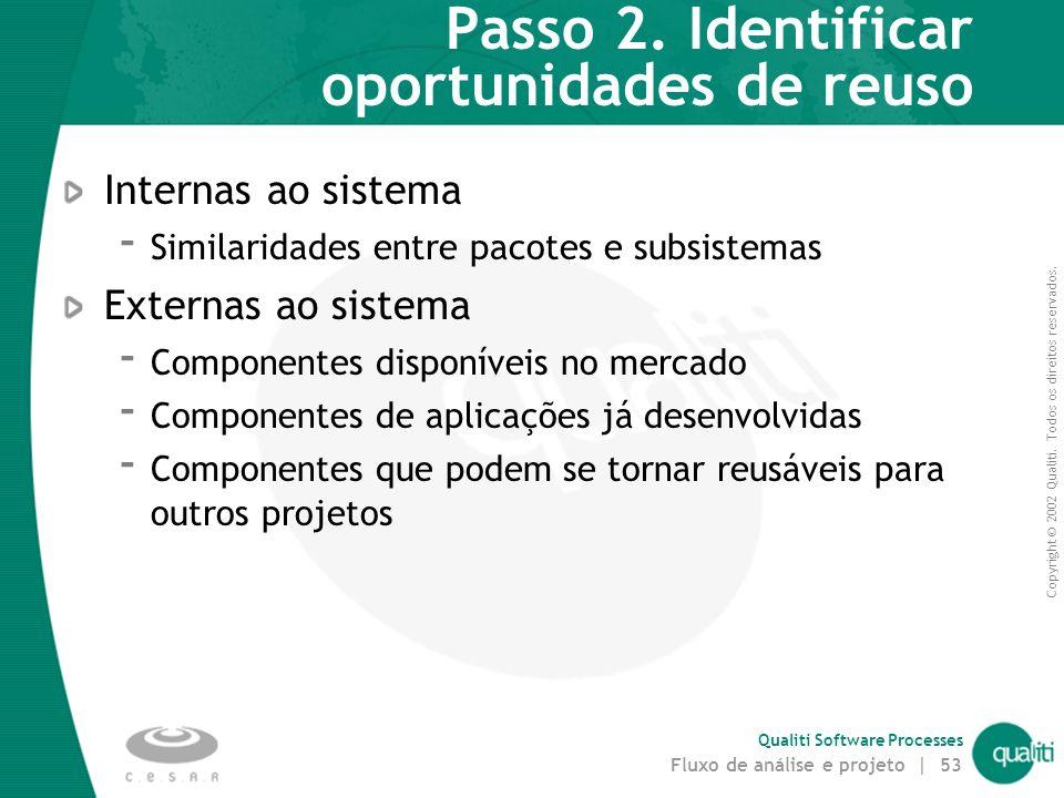 Passo 2. Identificar oportunidades de reuso