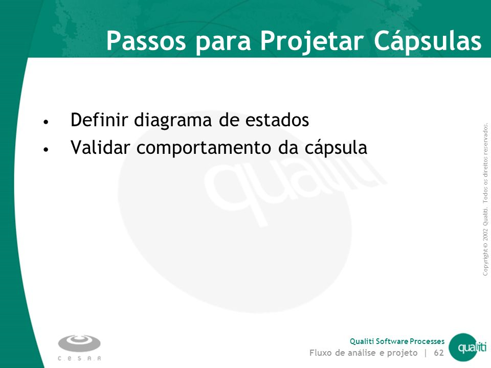 Passos para Projetar Cápsulas