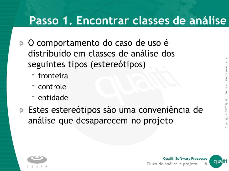 Passo 1. Encontrar classes de análise