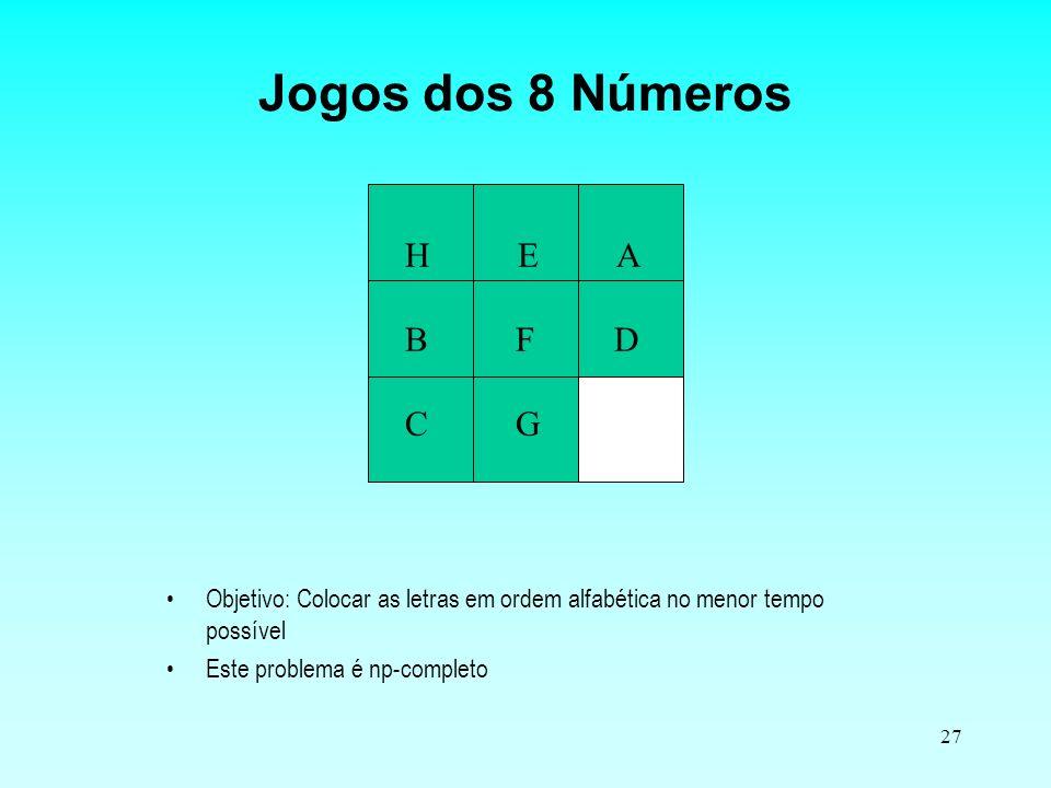 Jogos dos 8 Números H E A B F D C G