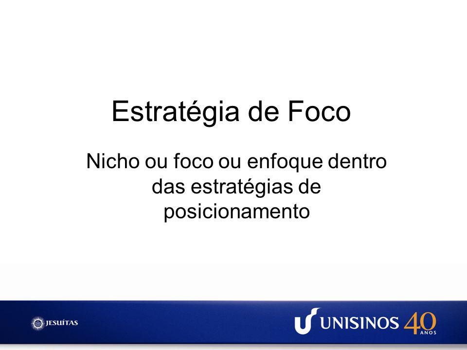 Nicho ou foco ou enfoque dentro das estratégias de posicionamento