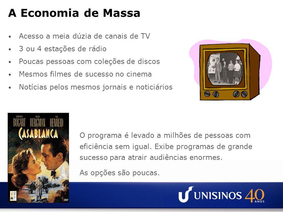 A Economia de Massa Acesso a meia dúzia de canais de TV