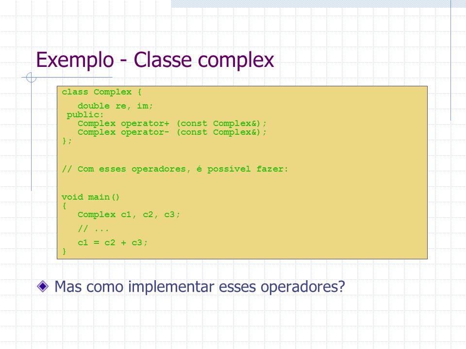 Exemplo - Classe complex