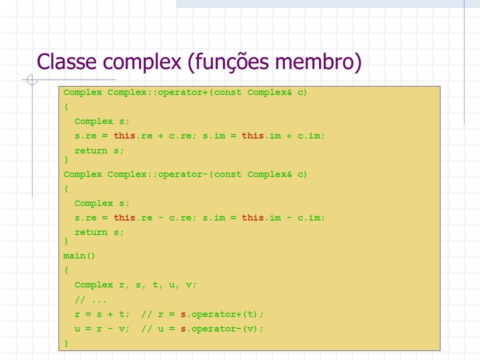 Classe complex (funções membro)