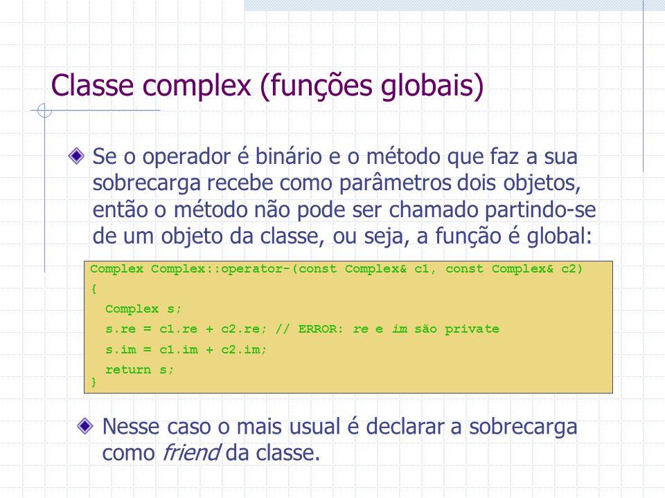 Classe complex (funções globais)