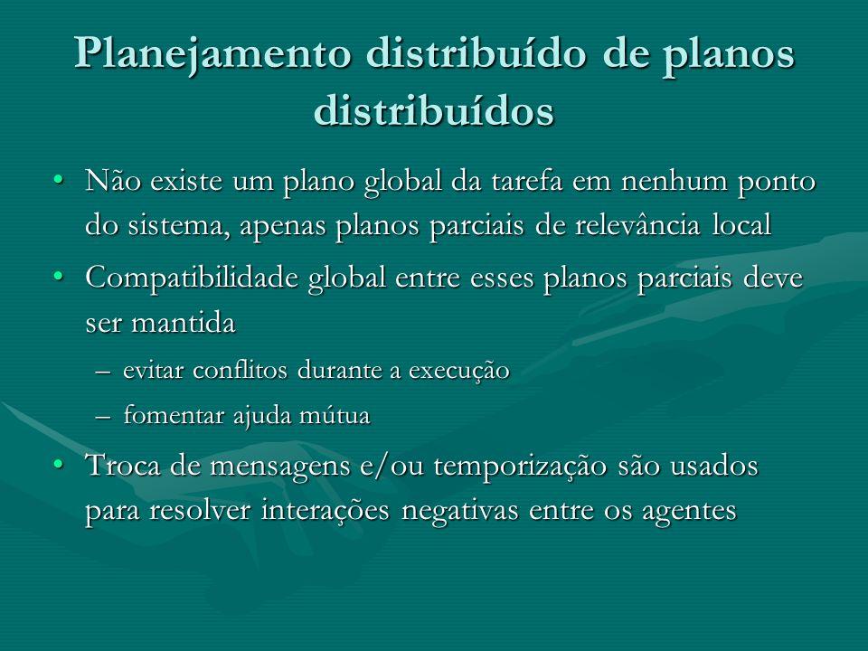 Planejamento distribuído de planos distribuídos