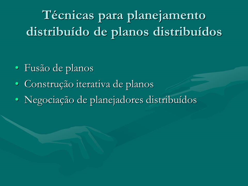 Técnicas para planejamento distribuído de planos distribuídos