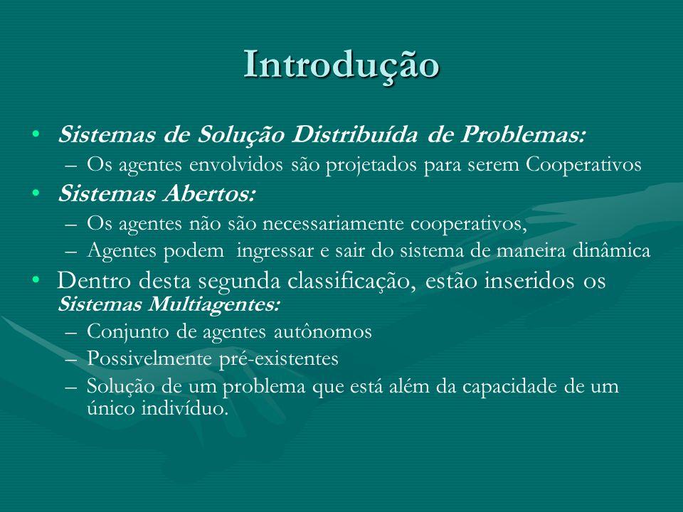 Introdução Sistemas de Solução Distribuída de Problemas: