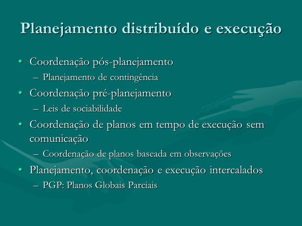 Planejamento distribuído e execução