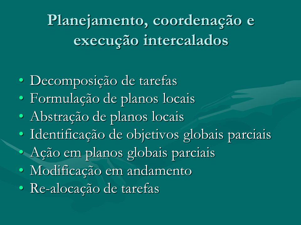 Planejamento, coordenação e execução intercalados
