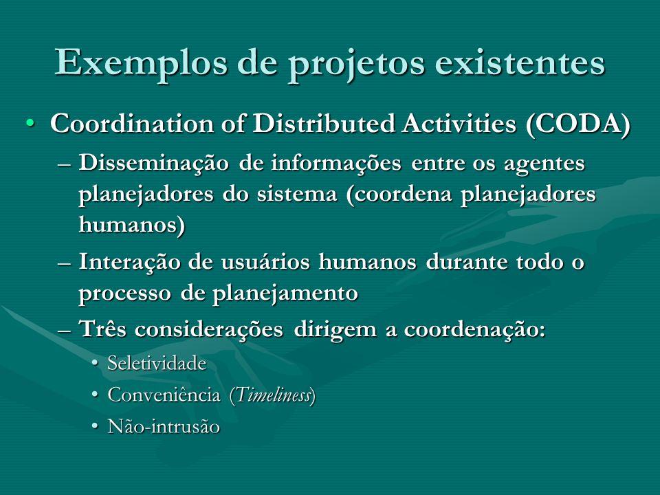 Exemplos de projetos existentes