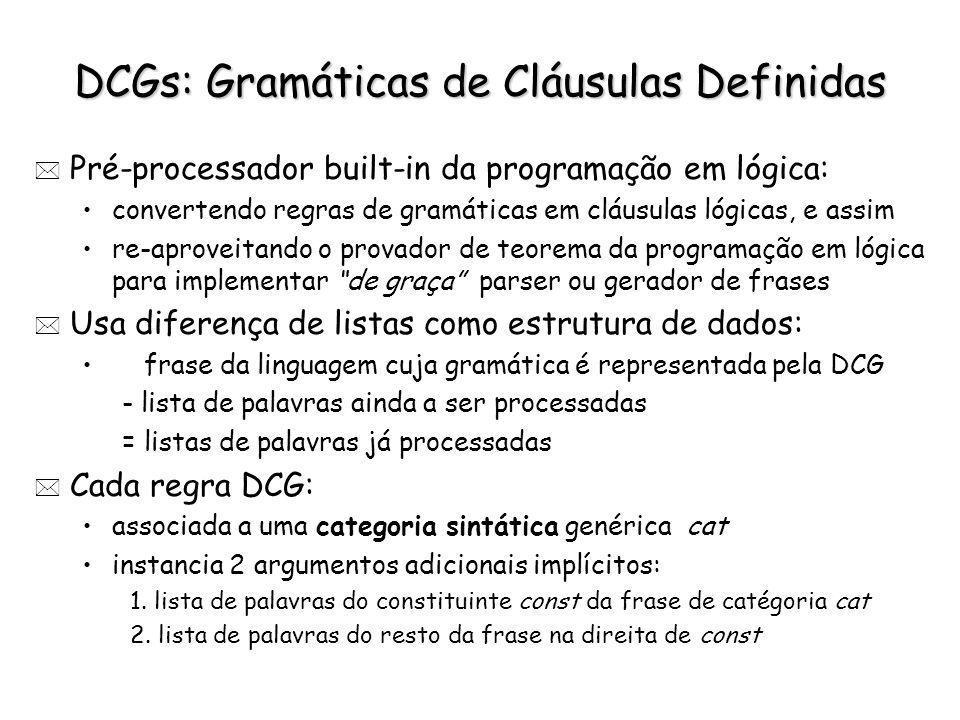 DCGs: Gramáticas de Cláusulas Definidas