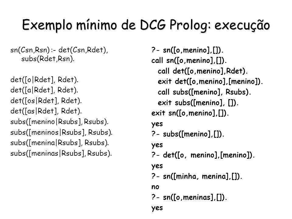 Exemplo mínimo de DCG Prolog: execução