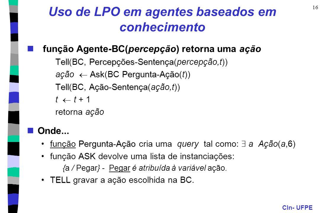 Uso de LPO em agentes baseados em conhecimento