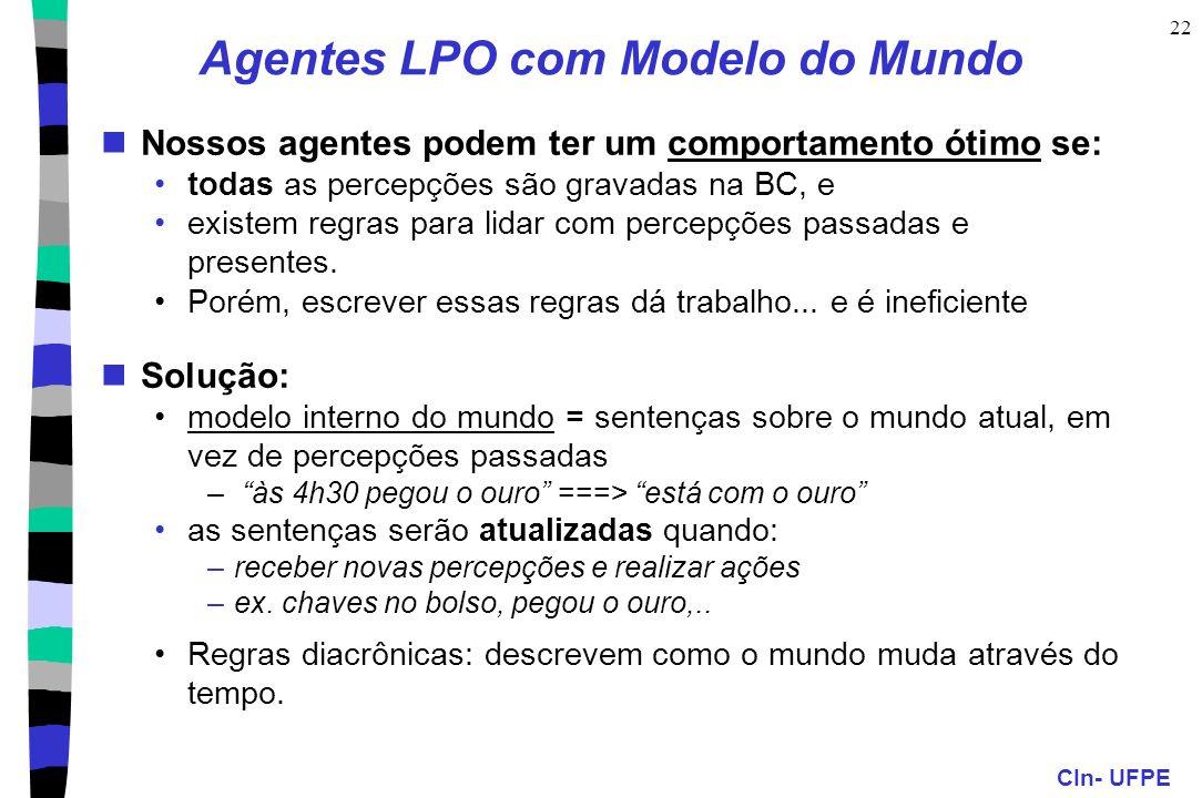 Agentes LPO com Modelo do Mundo