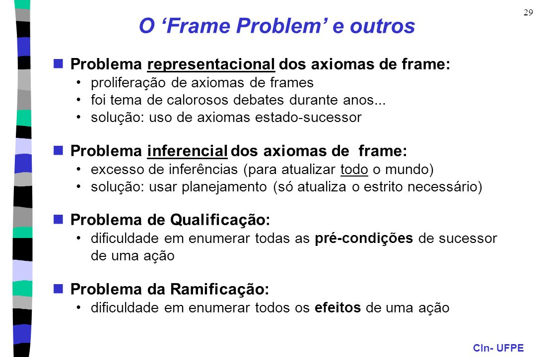 O 'Frame Problem' e outros