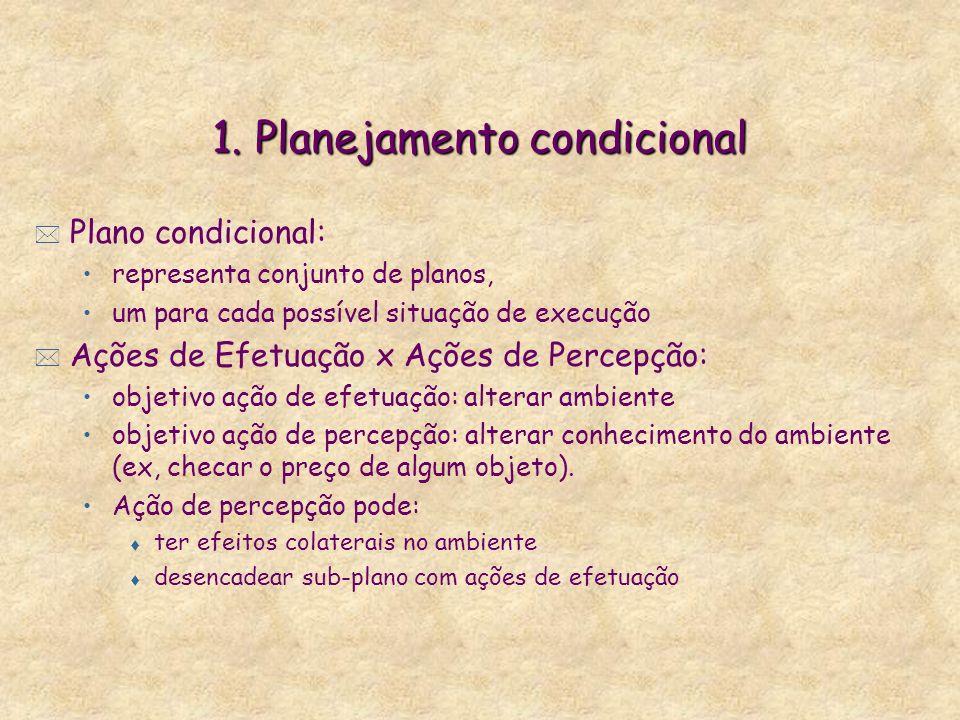 1. Planejamento condicional