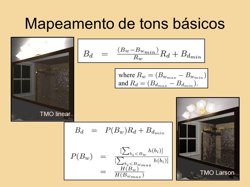 Mapeamento de tons básicos