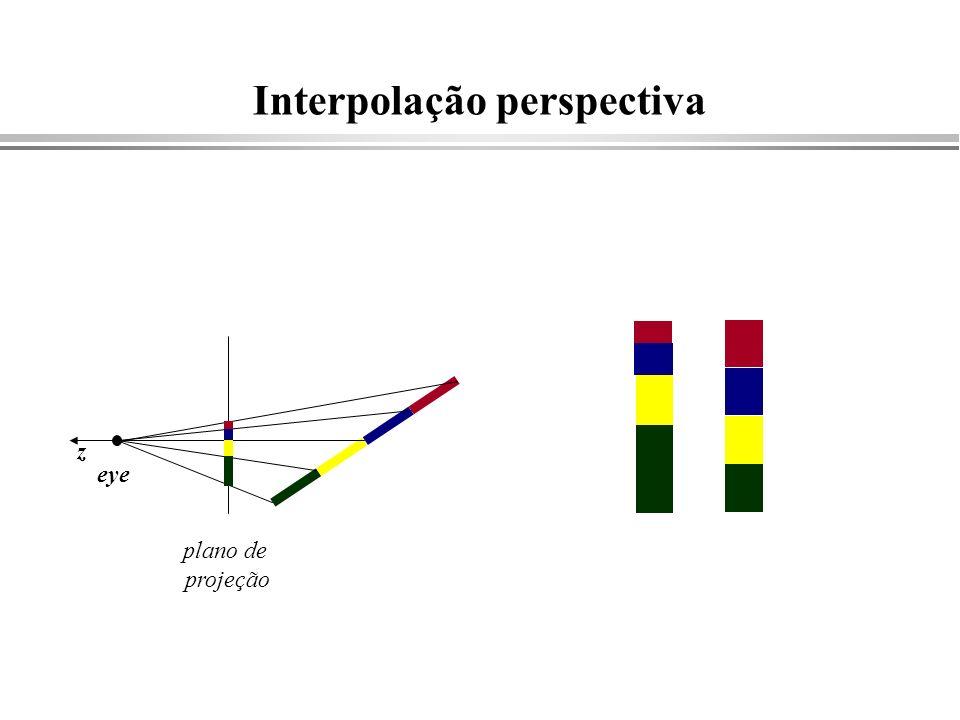 Interpolação perspectiva