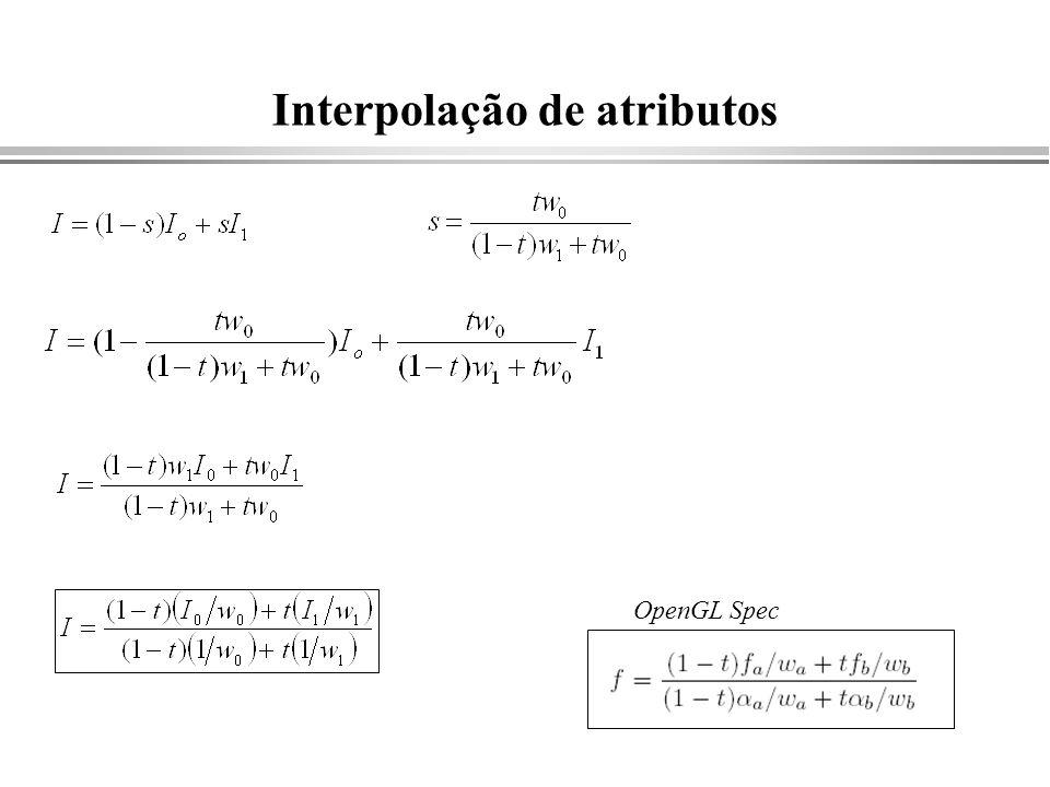 Interpolação de atributos