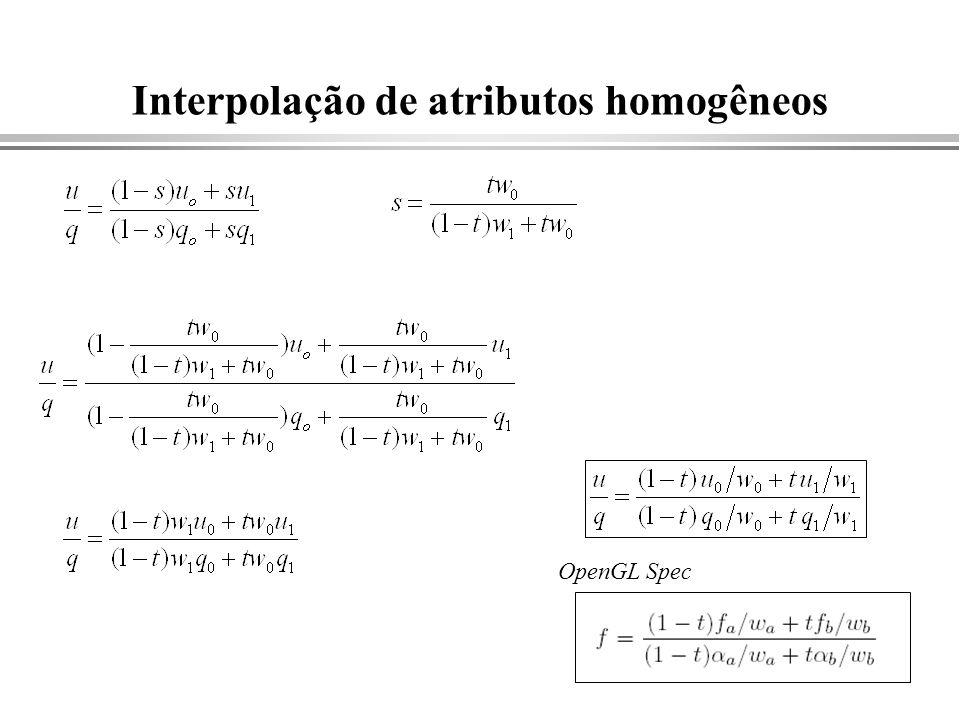 Interpolação de atributos homogêneos