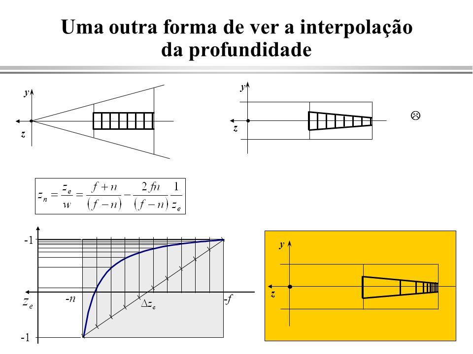 Uma outra forma de ver a interpolação da profundidade
